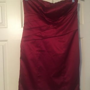 Formal Dress zip up above the knee pleated front